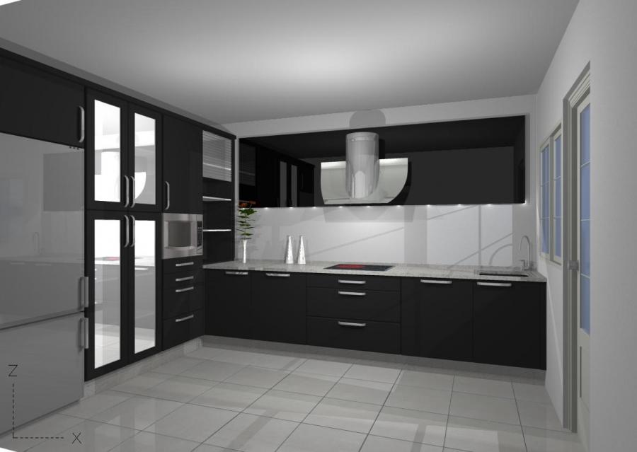 Dise o 3d de cocina moderna ireadesign for Diseno cocinas 3d gratis espanol